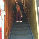 Escada de entrada e saída do hotel