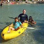 Kayaking in the salt water lagoon