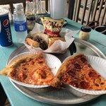 Yummy. Steak sub and pizza