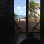 Balcony off of bedroom, with view of Volcan Mombacho