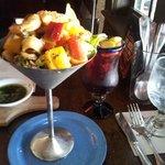 Ceviche casa and homemade Sangria