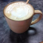 Fresh caramel creme latte.