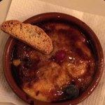 Dessert - Crème Brulée type dish called Crema Catalan