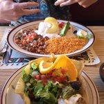 Taco sala and seafood chimichanga very good