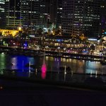 Darling Harbour - Vivid Festival Fountains from room