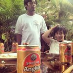 Angkor beer time with the staff