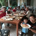 Made and our family in villa