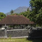 Mt Agung from nearby temple