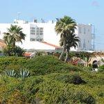 Mareta beach hotel, from the footpath outside