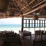 Dongwe restaurant & Bar on the deck by the beach with amazing view.