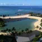 view from front lanai of ocean & lagoon