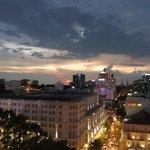 View from the Saigon Saigon Bar level 9 at night