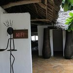 The entrance of the restaurant, and yes; free wi-fi.