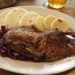 Half duck with knedliky