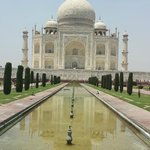 Taj Mahal with water reflection