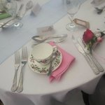 Place settings at Wedding Breakfast