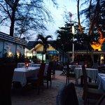 Outside dining part of Taste