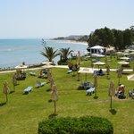 Vista de la playa desde el hotel