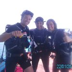 Friends and me diving