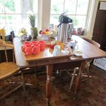 kitchen beverage table