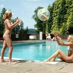 Outdoor pool open in the summer months