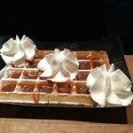waffle, caramel & cream