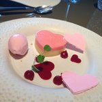 Vanilla, rose and raspberry