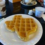 Waffeln in Texas-Form