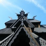 Gol Stave Church with its dragons to scare away evil spirits