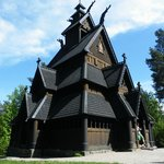Stave church brought from Gol to Oslo in the late 1800's
