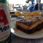 Mousaka and cold beer