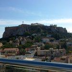 The Acropolis view from the terrace