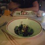salade dans le resto italien