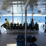 "On the way to a dive site with the ""El Amira"""