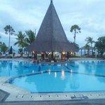 Nice swiming pool with beach view