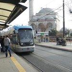 трамвай в Стамбуле это что=то необыкновенное, 13млн жителей и за 7дней один раз ехали стоя