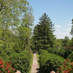 A walkway down the formal garden