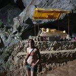 Sleeping Buddha inside Tham Phu Kham Cave