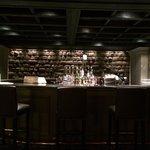 The bar area with original Incan stonework