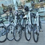 Free bicycles to rent during the summer