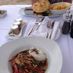 Gorgeous lunch served at your lounger