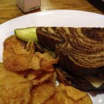 Patty melt..great chips, but patty melt had pickles all over it. Even though I said mustard on t