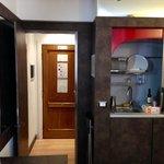 In living/dining room looking toward front door