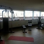 Gym. Small but great view.