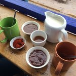 Hot chocolate paraphernalia at the ChocoMuseo