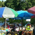 Sampan owners peddling their food.