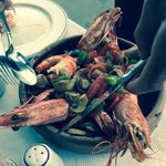 Giant prawns. Awesome.