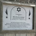 plaque for graveyard at synagogue