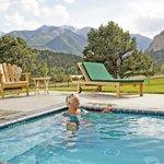 Samller Hot Springs with incredible Rocky Mountain views