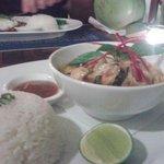 Khmer amok coconut curry